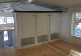 Loft storage cabinet in the Lassen Peak