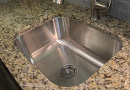 Granite counters with undermount sink