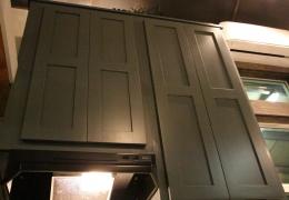 """52"""" blue/ gray cabinets in Castle Peak"""