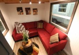 Living area in Castle Peak 26' barrel roof