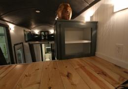Cabinet access in loft of Castle Peak 26' barrel roof