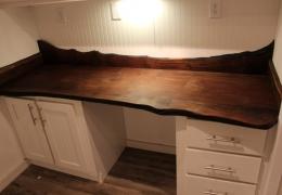 Custom black Walnut desk in the Castle Peak