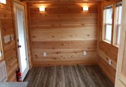 Chinook Peak living area with cedar interior