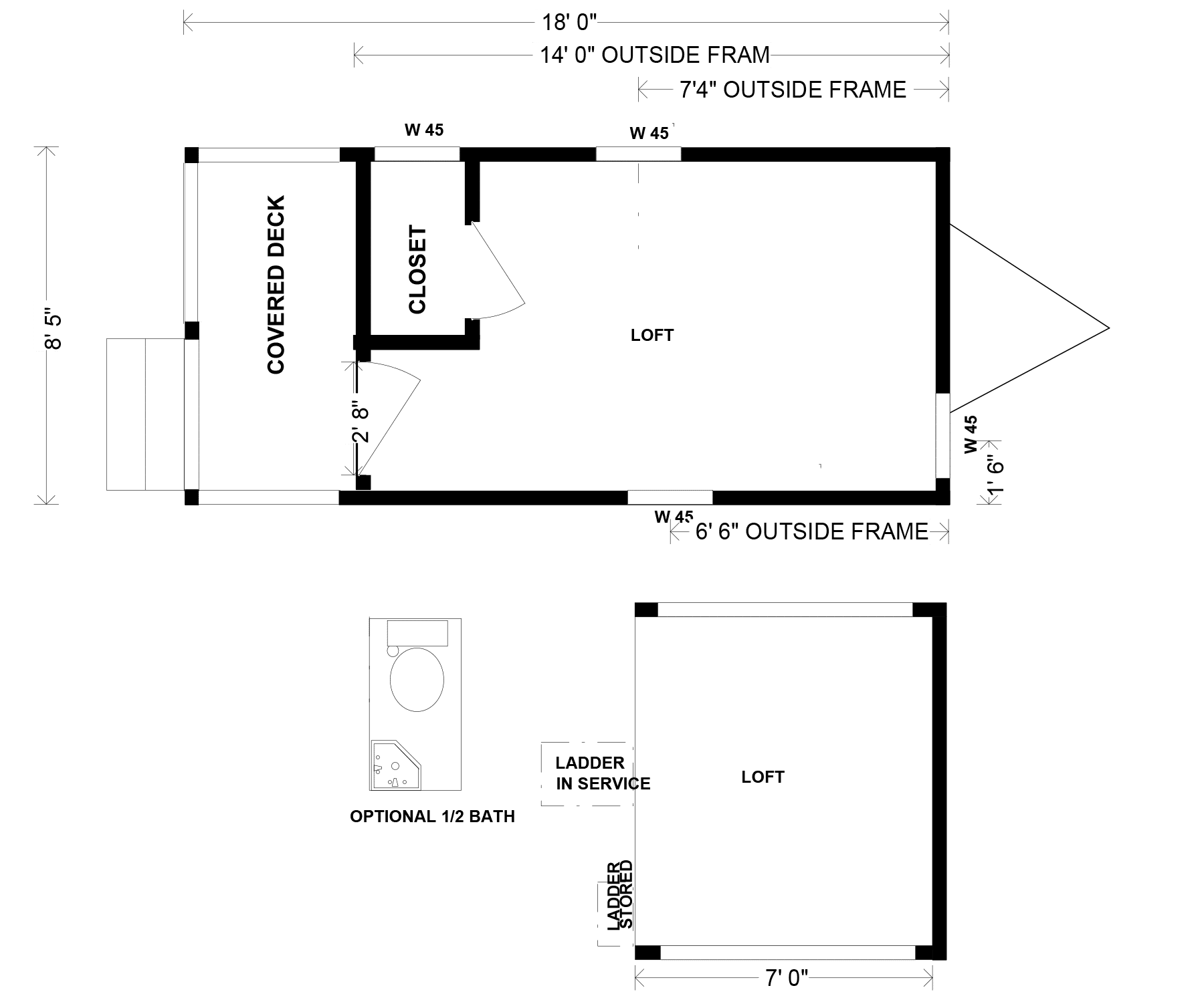 Blank Peak 18 Floorplan Tiny Mountain Houses