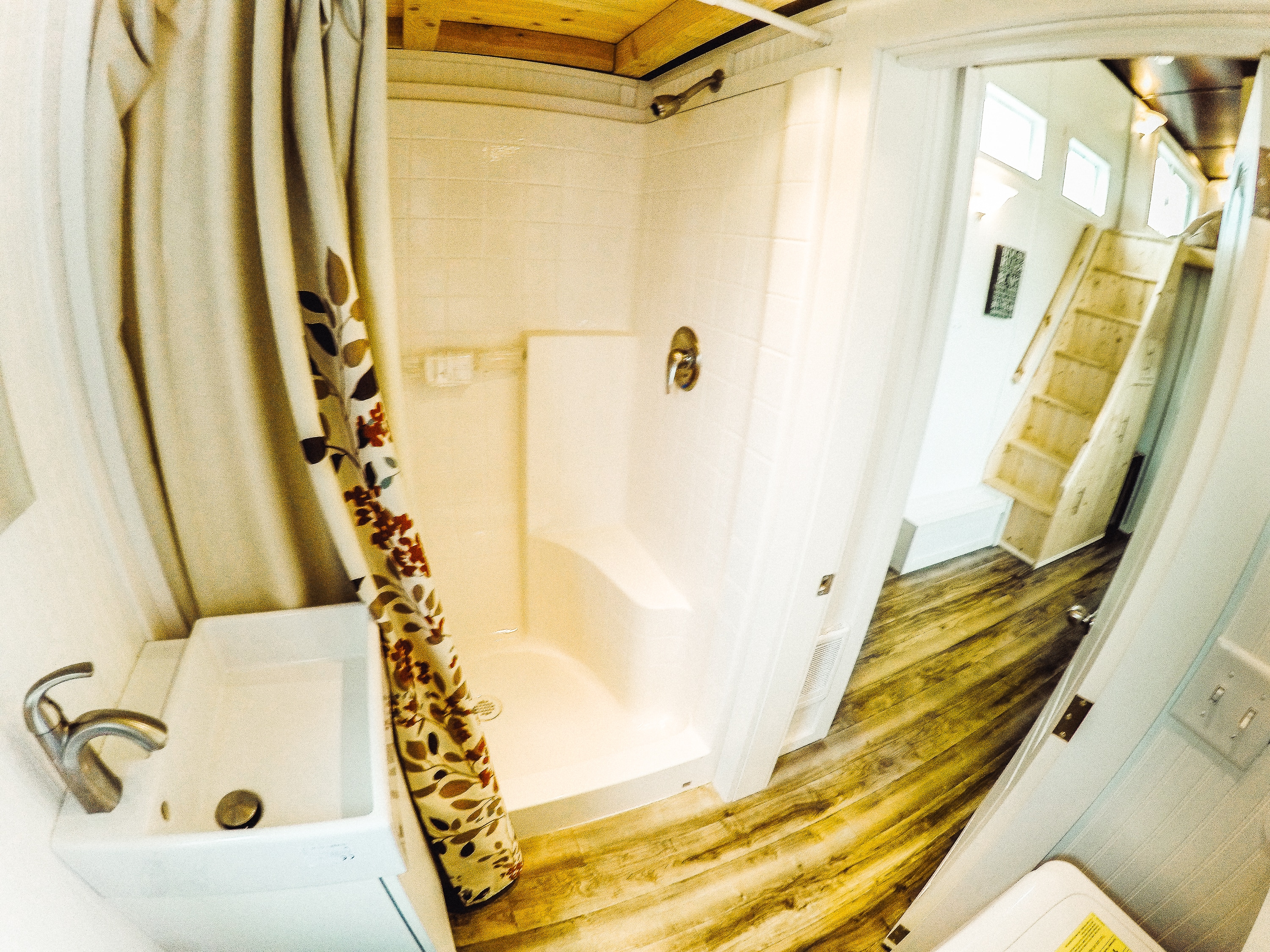 Bathroom view of the custom built #CastlePeak